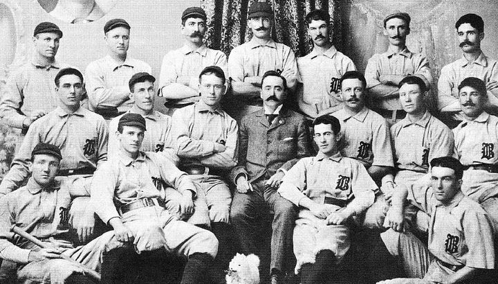 Old-timey baseball team