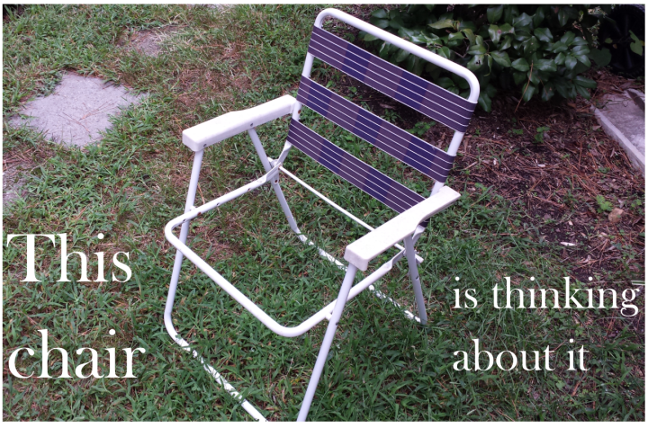 Strapless lawn chair