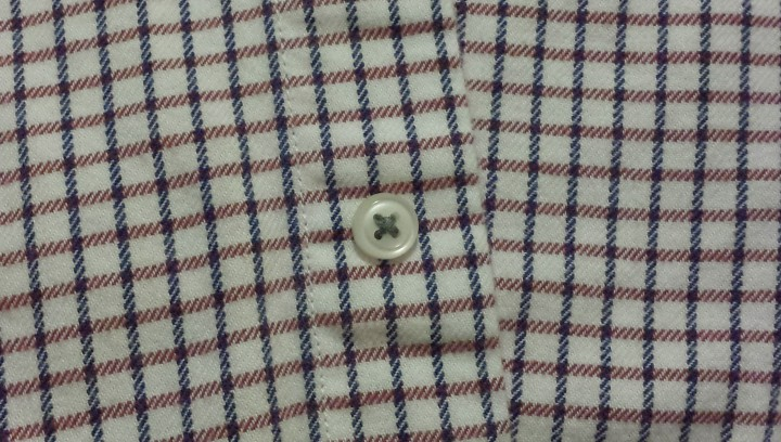 Button on shirt