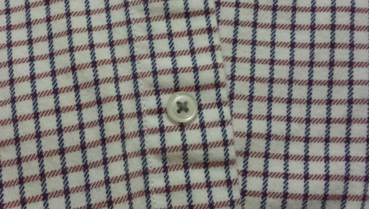 Button on shirt